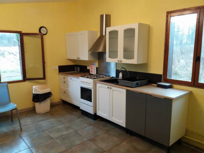 Kitchen in the Carpers Cabin