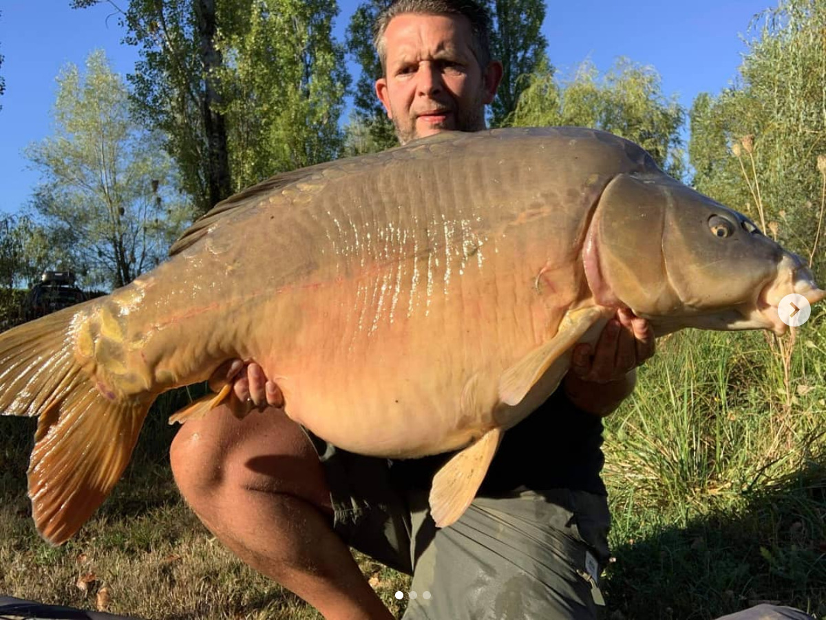 New Lake Record mirror and new P.B for Tel. 57.6lb