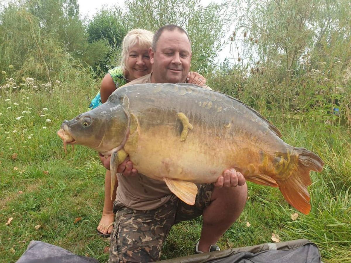 39.8lb on the CST lake bait